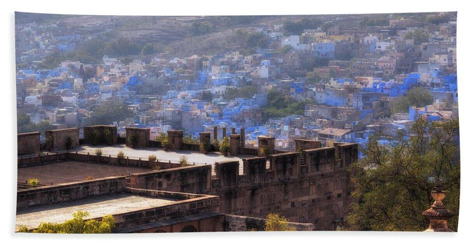 Mehrangarh Fort Beach Towel featuring the photograph Jodhpur - India by Joana Kruse