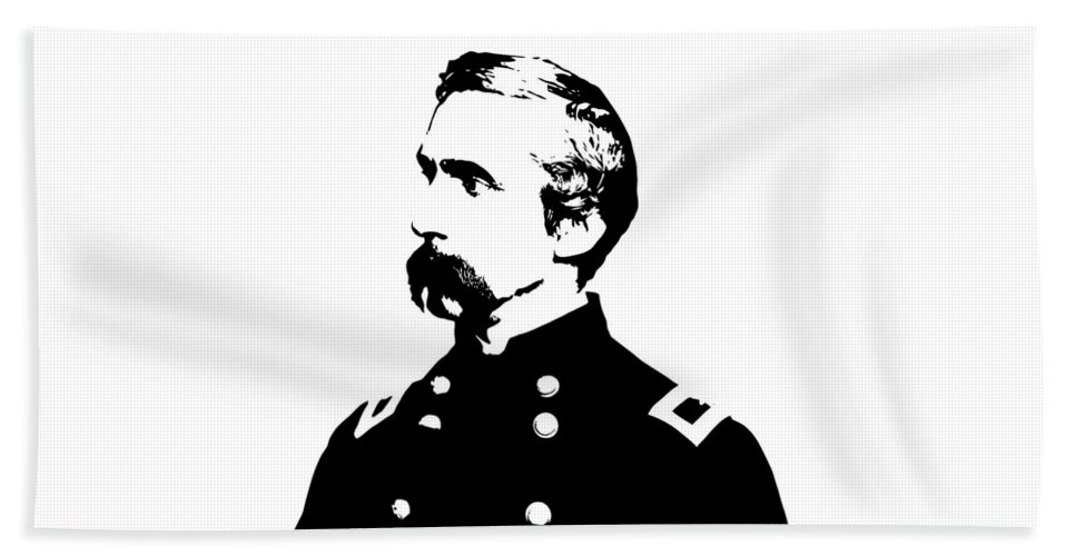 General Chamberlain Beach Towel featuring the digital art Joshua Lawrence Chamberlain Graphic by War Is Hell Store