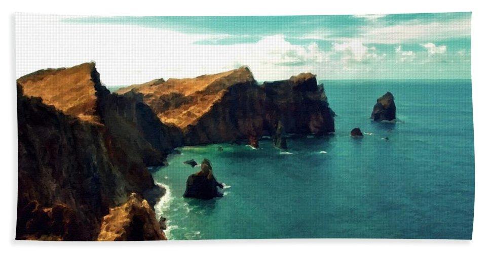 Set Beach Towel featuring the digital art Landscape Fine Art by Malinda Spaulding