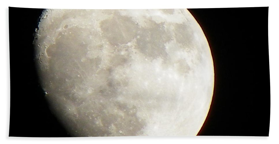 Moon Beach Towel featuring the photograph Moon by Gerald Kloss