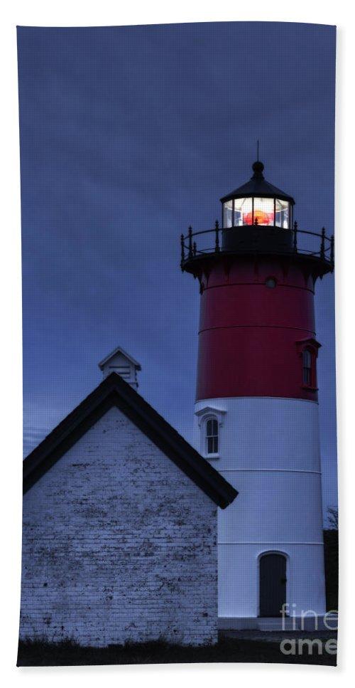 Cape Cod Beach Towel featuring the photograph Nauset Lighthouse Dusk by John Greim