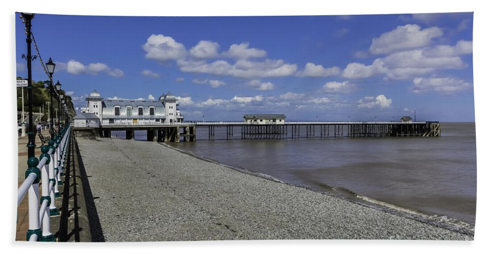 Penarth Pier Beach Towel featuring the photograph Penarth Pier 3 by Steve Purnell