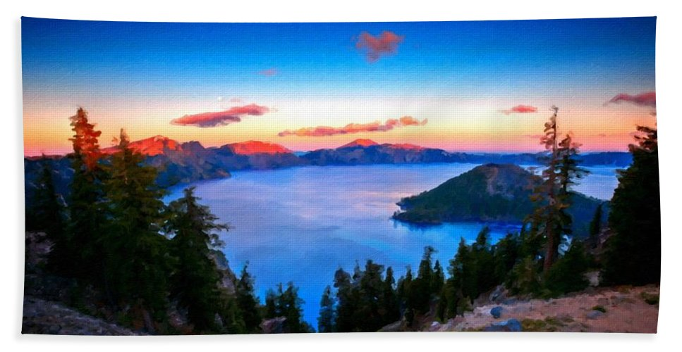 Art Beach Towel featuring the digital art R F Landscape by Malinda Spaulding