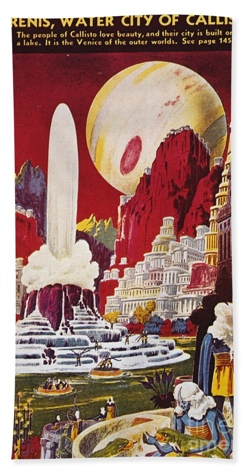 1941 Beach Towel featuring the photograph Science Fiction Magazine by Granger