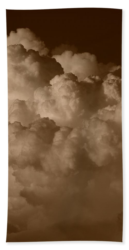 Sepia Beach Towel featuring the photograph Sepia Clouds by Rob Hans