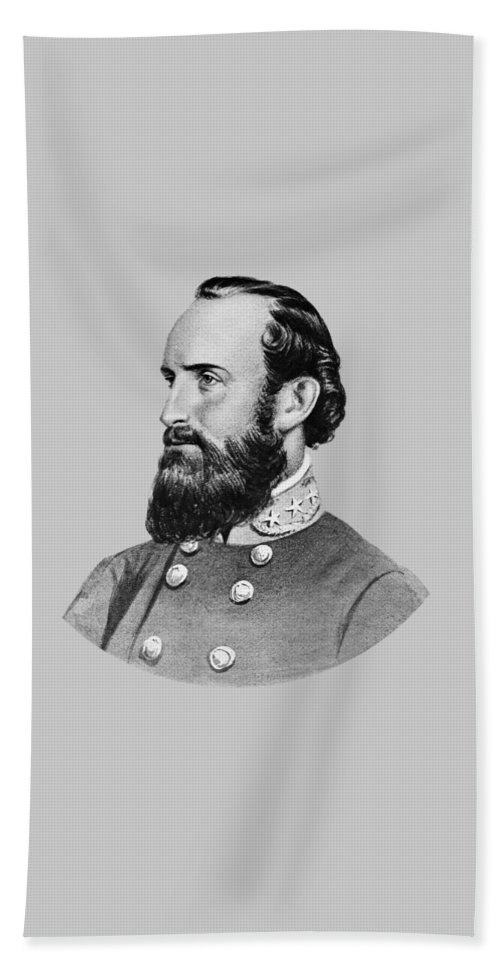 Stonewall Jackson Beach Towel featuring the painting Stonewall Jackson - Six by War Is Hell Store