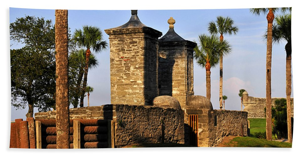 Fine Art Photography Beach Towel featuring the photograph The Old City Gates by David Lee Thompson