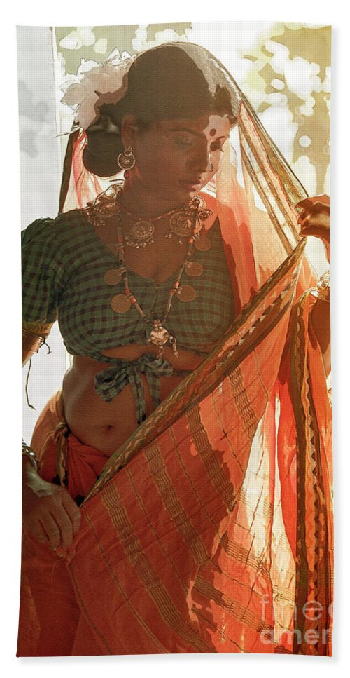 Tribe Beach Towel featuring the photograph Tribal Beauty Of India by Kiran Joshi