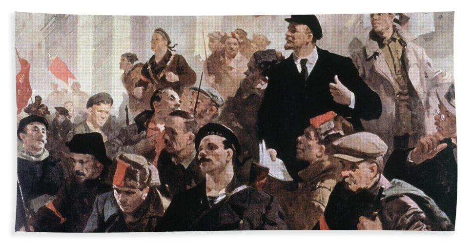 1917 Beach Towel featuring the photograph Vladimir Lenin (1870-1924) by Granger