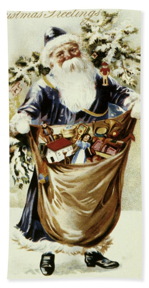 19th Century Beach Towel featuring the photograph American Christmas Card by Granger