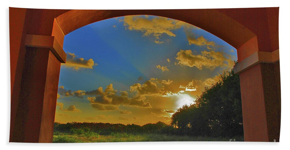 Sunrise Beach Towel featuring the photograph 33- Window To Paradise by Joseph Keane
