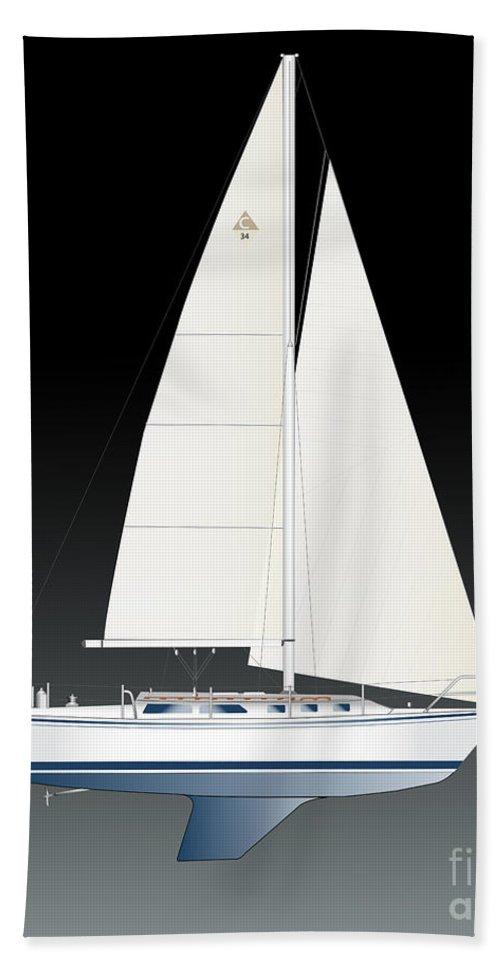 Egina Gallant Sailboats Beach Towel featuring the photograph 33b Gallant Sailing by Regina Marie Gallant