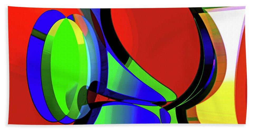 Curious Beach Towel featuring the digital art 3d-curiosity Of Science by Helmut Rottler