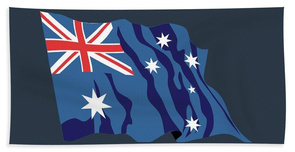 Australia Beach Towel featuring the digital art Australia Flag by Frederick Holiday