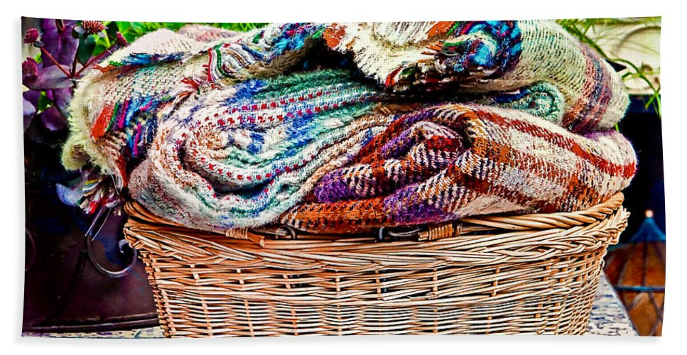 Basket Beach Towel featuring the photograph Blankets by Tom Gowanlock