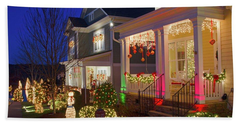 Mcadenville Beach Towel featuring the photograph Christmas Village by Craig McCausland