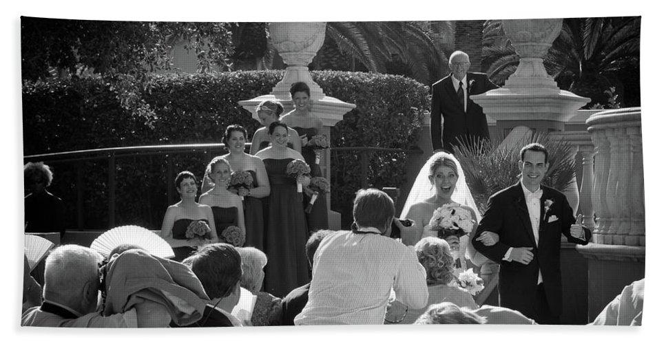 Beach Towel featuring the photograph Etzel Mcdougal Wedding by Dennis Goodman