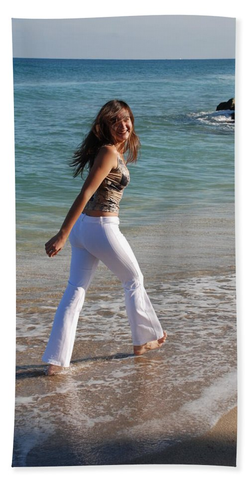 Women Beach Towel featuring the photograph Gisele by Rob Hans