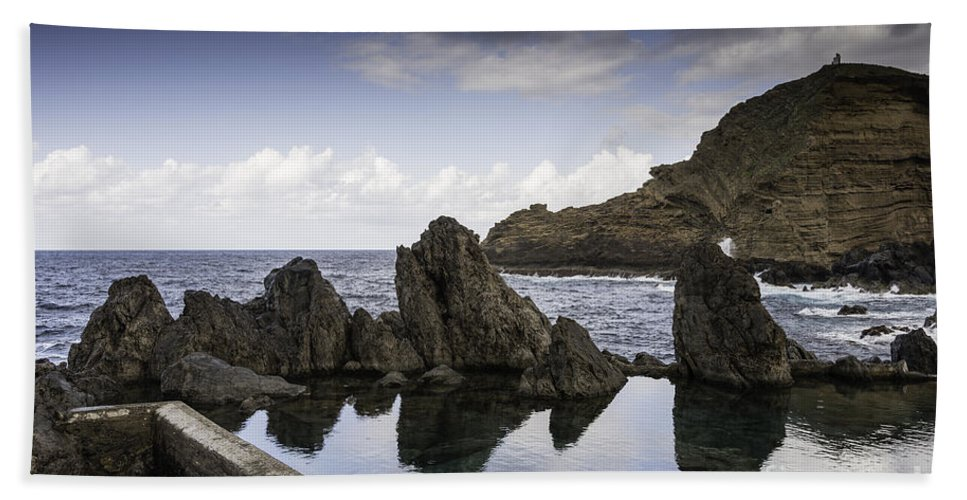 Ocean Beach Towel featuring the photograph Natural Pools In Porto Moniz, Madeira by Compuinfoto