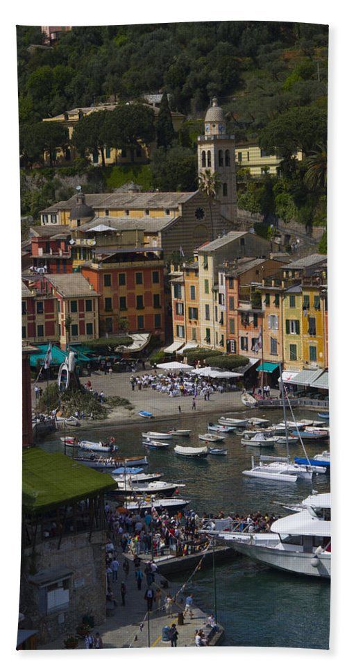 Portofino Beach Towel featuring the photograph Portofino In The Italian Riviera In Liguria Italy by David Smith