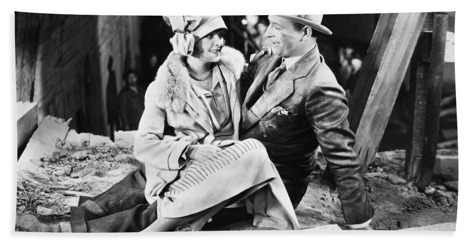 -one Man One Woman- Beach Towel featuring the photograph Silent Still: Man & Woman by Granger