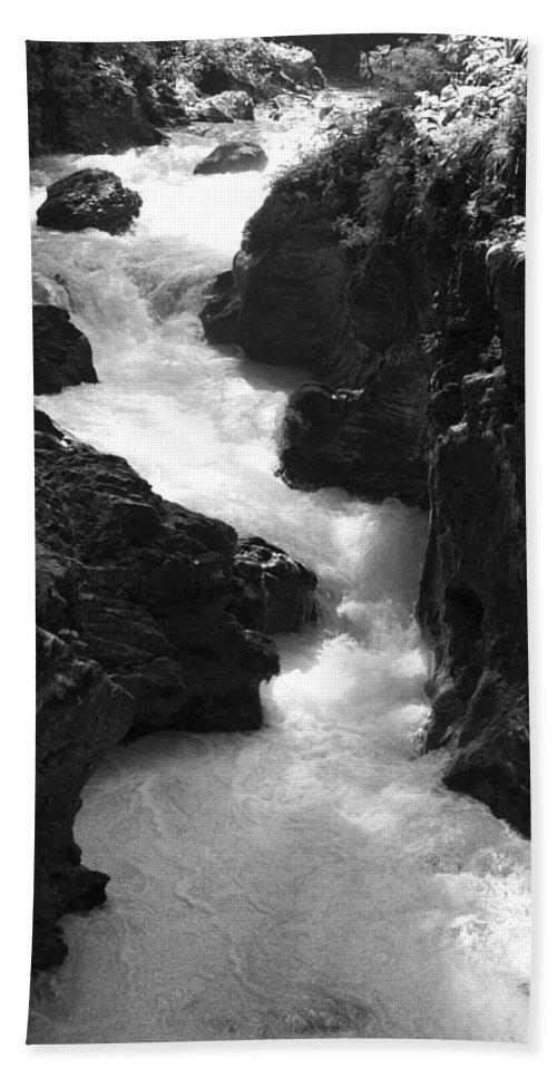 Vintgar Beach Towel featuring the photograph The Vintgar Gorge by Ian Middleton