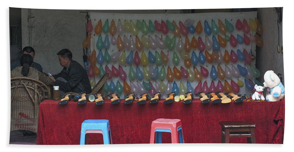 Asia Beach Towel featuring the photograph 4520- Shooting Gallery by David Lange