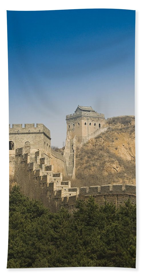 Ancient Beach Towel featuring the photograph Great Wall Of China - Jinshanling by Gloria & Richard Maschmeyer - Printscapes