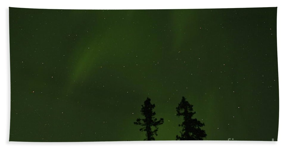Aurora Beach Towel featuring the photograph Northern Glow by Rick Monyahan