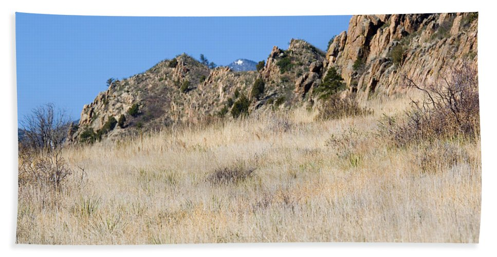 Red Rock Beach Towel featuring the photograph Red Rock Canyon Open Space Park by Steve Krull