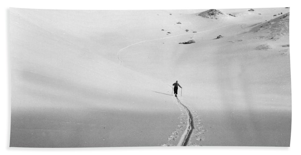 Lonely Beach Towel featuring the photograph Winter Landscape by German School