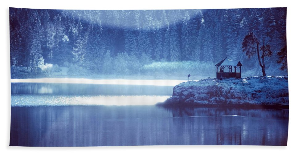Winter Beach Towel featuring the digital art Winter by Zia Low