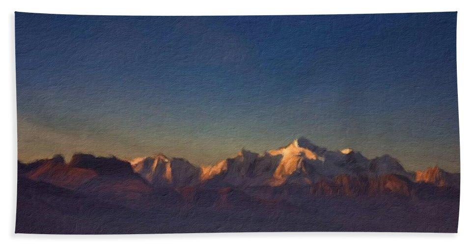 Beautiful Beach Towel featuring the digital art D J Landscape by Malinda Spaulding