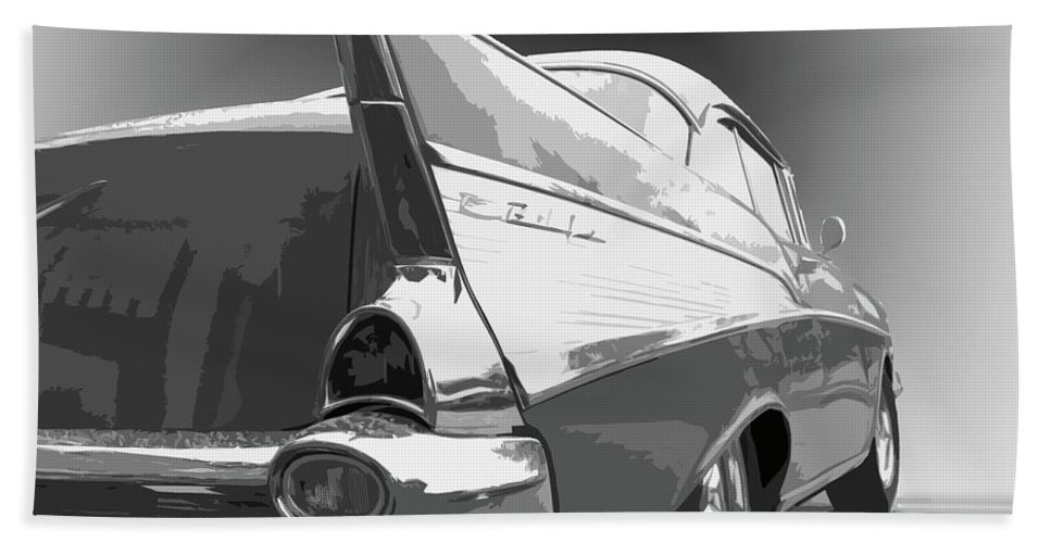 1957 Beach Towel featuring the photograph 57 Chevy Horizontal by Dick Goodman