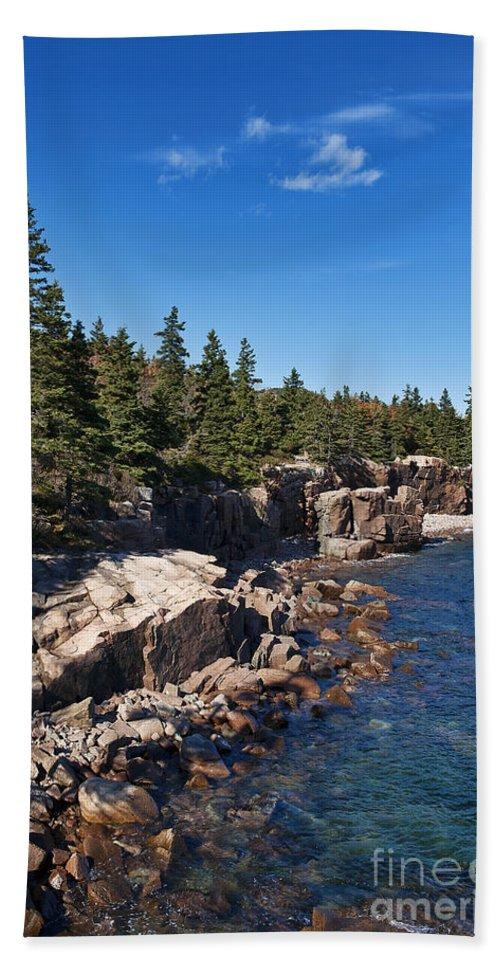 Acadia Beach Towel featuring the photograph Acadia National Park by John Greim