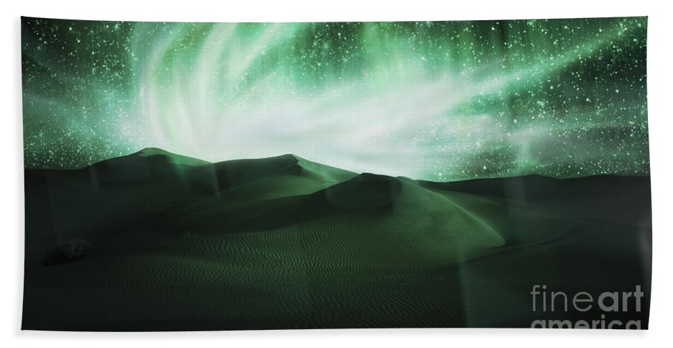 Above Beach Towel featuring the photograph Aurora Borealis by Setsiri Silapasuwanchai