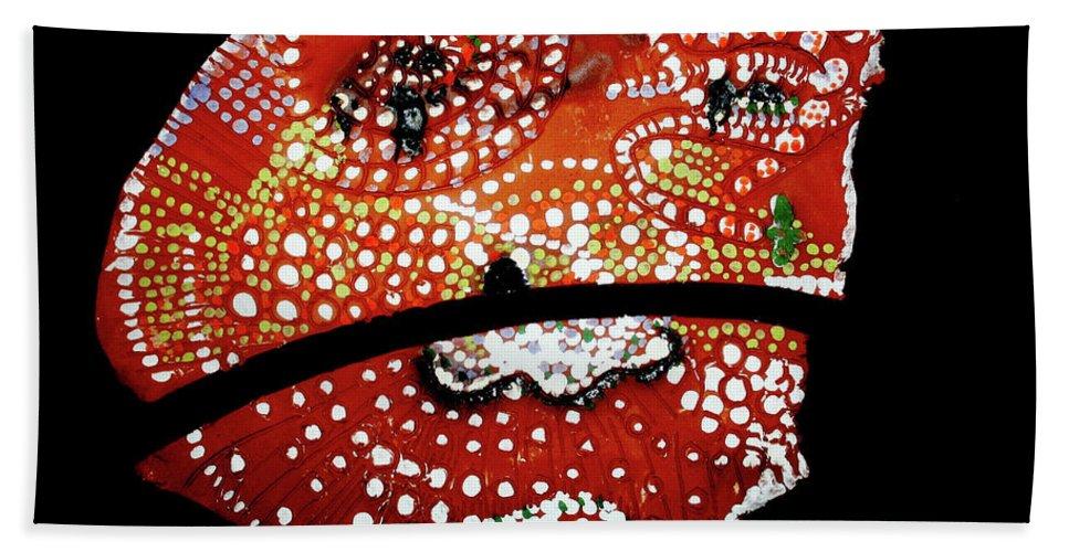 Our Lady Beach Towel featuring the ceramic art Bikira Maria by Gloria Ssali