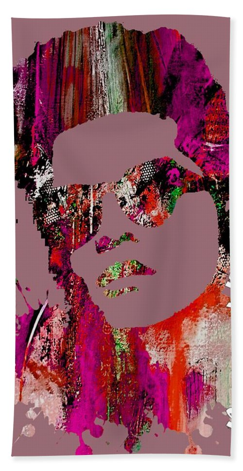 Bruno Mars Beach Towel featuring the mixed media Bruno Mars Collection by Marvin Blaine