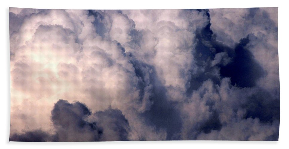 Clay Beach Sheet featuring the photograph Clouds by Clayton Bruster