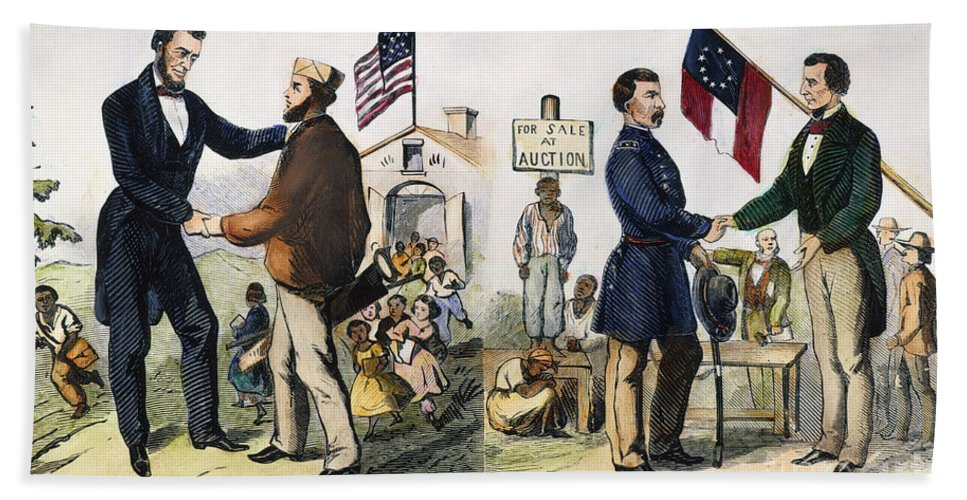 1864 Beach Towel featuring the photograph Presidential Campaign, 1864 by Granger