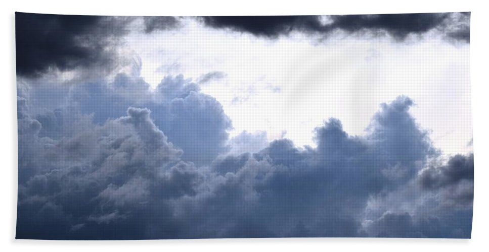Landscape Beach Towel featuring the digital art SKY by Erin Schuettler