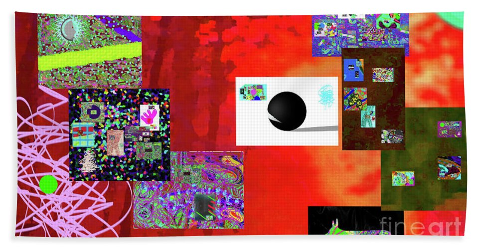 Walter Paul Bebirian Beach Towel featuring the digital art 7-30-2015fabcdefghijklmn by Walter Paul Bebirian