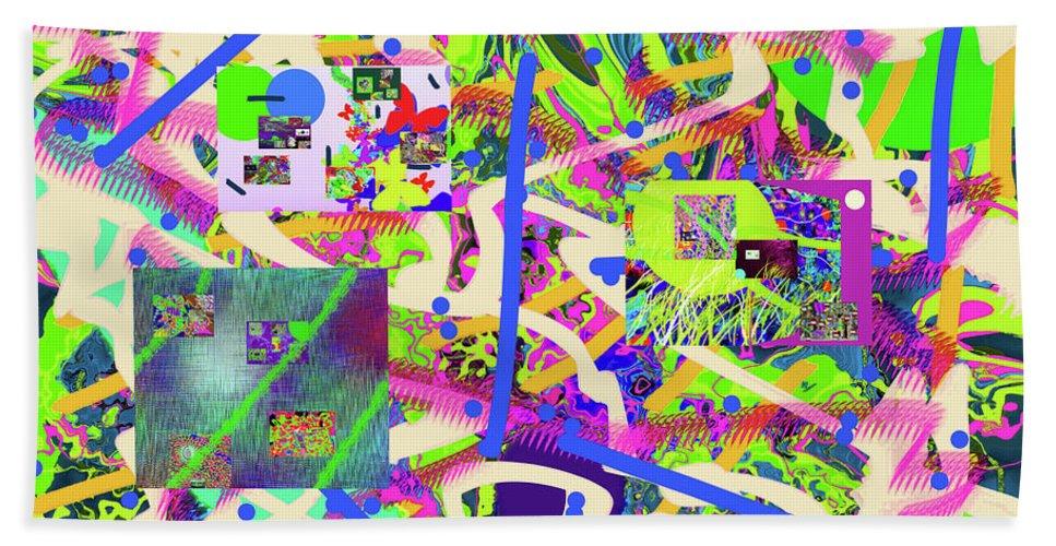 Walter Paul Bebirian Beach Towel featuring the digital art 7-8-2015kabcdefghijklmnopqrtuvwxy by Walter Paul Bebirian
