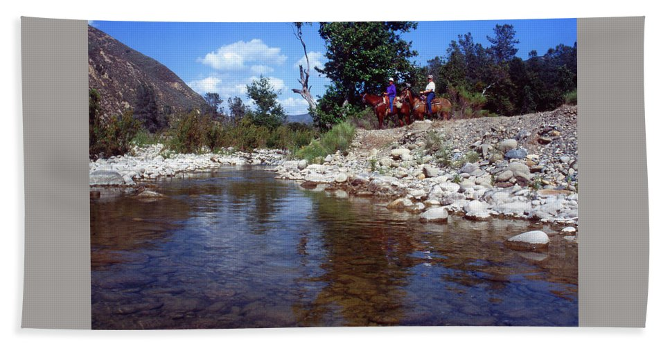 Lower Sisquoc River Beach Towel featuring the photograph Lower Sisquoc River - San Rafael Wilderness by Soli Deo Gloria Wilderness And Wildlife Photography