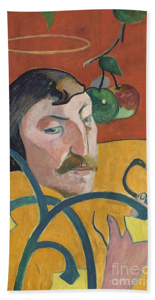 Beach Towel featuring the painting Self-portrait by Paul Gauguin