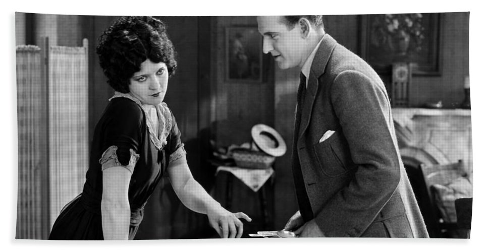 -couples- Beach Towel featuring the photograph Silent Film Still: Couples by Granger