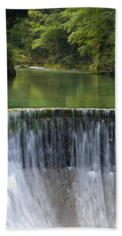 Vintgar Beach Towel featuring the photograph The Vintgar Gorge by Ian Middleton