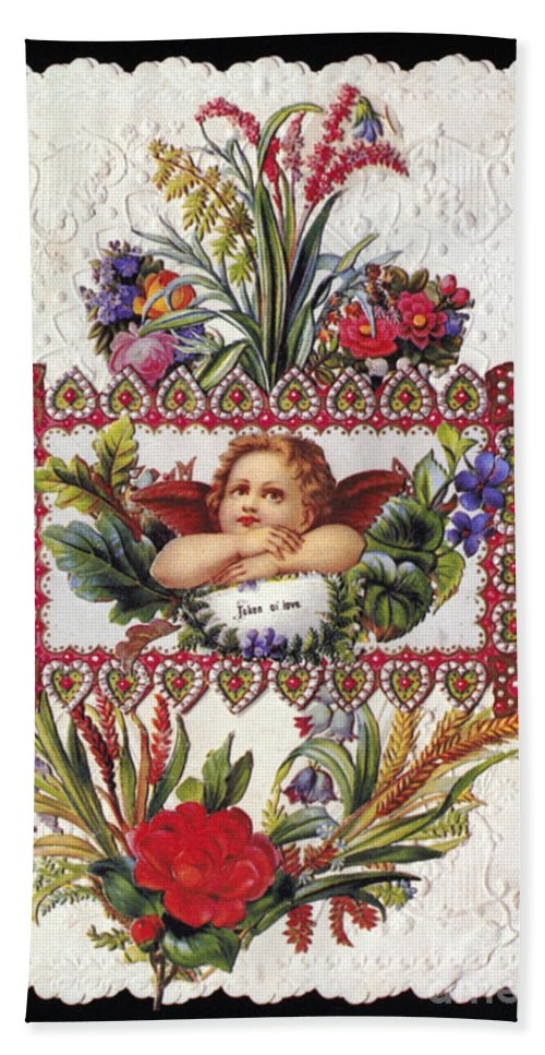 1890 Beach Towel featuring the photograph Valentines Day Card by Granger