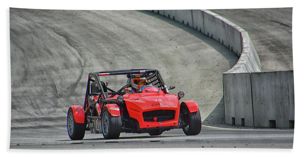 Mazda Beach Towel featuring the photograph 2014 Mazda Exocet by Mike Martin