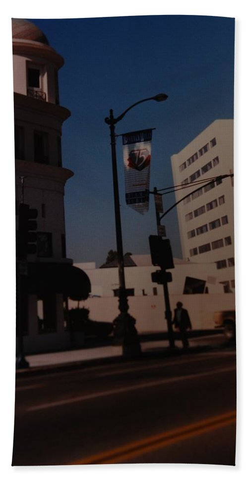 Hollywood California Beach Towel featuring the photograph 75th Hollywood by Rob Hans